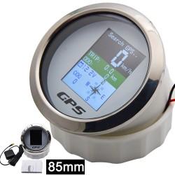 Universeller Tacho - 85 mm Spurweite - wasserdicht - TFT-Bildschirm - mit GPS-Antenne - für Boote / Motorräder
