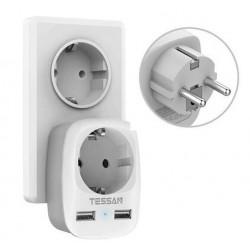 EU-Stecker - Steckdose - mit zwei / dreifachen USB-Anschlüssen