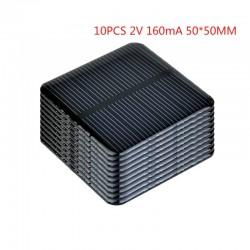 Solarpanel - zum Laden von Smartphones / Akkus - 2V - 160mA - 50 * 50mm - 10 Stück