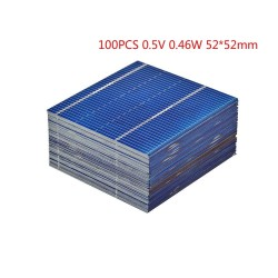 Solar panels - for phones / batteries charging - 0.5V - 0.46W - 52 * 52mm - 100 pieces