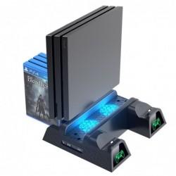 Dual Ladestation - Kühlständer - LED - für PS4 / PS4 Slim / PS4 Pro Controller