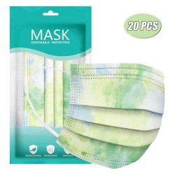 Mund- / Gesichtsschutzmasken - 3-lagig - Einweg - Batik