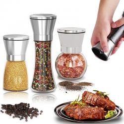 Salt / pepper / herbs grinder - with adjustable coarseness - stainless steel
