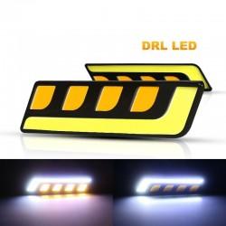 COB running car light - 2 pieces - feather / round - U-shaped