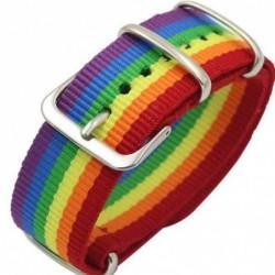 Regenbogenarmband - mit Schnalle - Nylon - Unisex