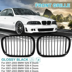 Uxcell  frront gloss black dual slat bumper - BMW E70 X5 E71 X6 E46 E90 5 Series F30 F10 1997-2016