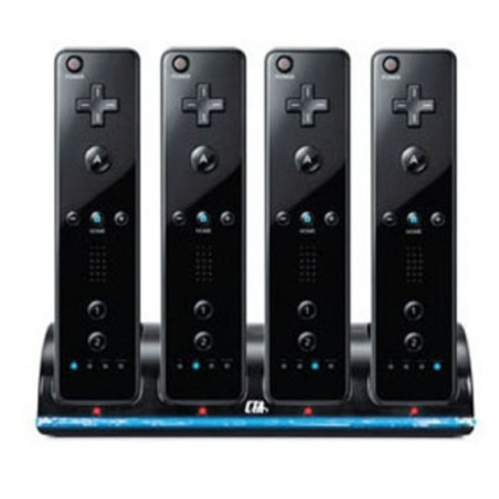 Wii Controller Charger incl. 4 Batteries 2800 mAh Black