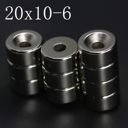 N35 - neodymium magnet - round disc - 20 * 10mm - with 6mm hole