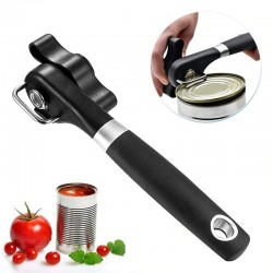 Manual can opener - with anti-slip hand grip - stainless steel