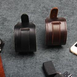 Breites Armband aus echtem Leder - verstellbare Schnalle