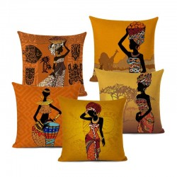 African ethnic design cushion cover - linen cloth -  for sofa 0 bed -home deco
