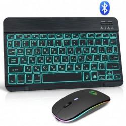 Kabellose RGB-Tastatur / -Maus - Bluetooth - Russisches / Spanisches / Englisches Layout