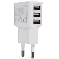 3 USB Port Charger EU Plug