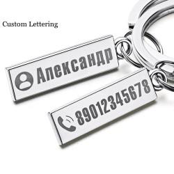 Anti-verlorener Schlüsselanhänger - mit individuellem Namen / Telefonnummer - Edelstahl