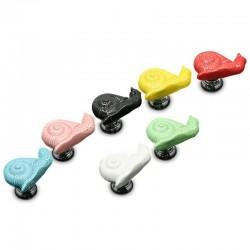 Snail shaped furniture knobs - ceramic handles