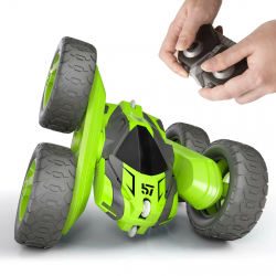 RC stunt car - 2.4GHz - 4 channels - 360 degree rotating - with remote control / battery