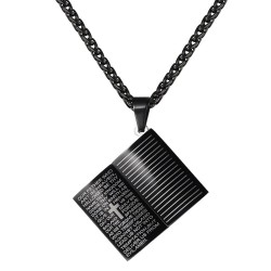 Holy Bible pendant - with necklace - stainless steel