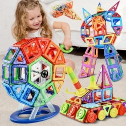 Magnetic  designer building blocks - ideal for children - toy friendly - gift - 180 pieces