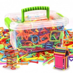 Creative building sticks for children - magical colors - educational - gift - 500 pieces