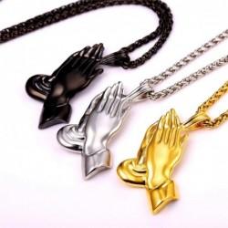 Praying hands pendant -...