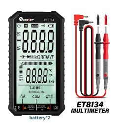 Smart digital multimeter - automatic / manual measure - LCD - resistance diode - temperature / frequency test