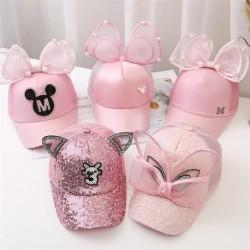 Big bow cartoon baseball caps for girls - bunnies ears - ideal for sun protection