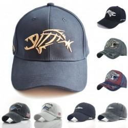 Baseball cap / snapback - embroidery fishbone - adjustable - unisex