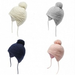 Knitted beanie hat - unisex - with protective ear cap