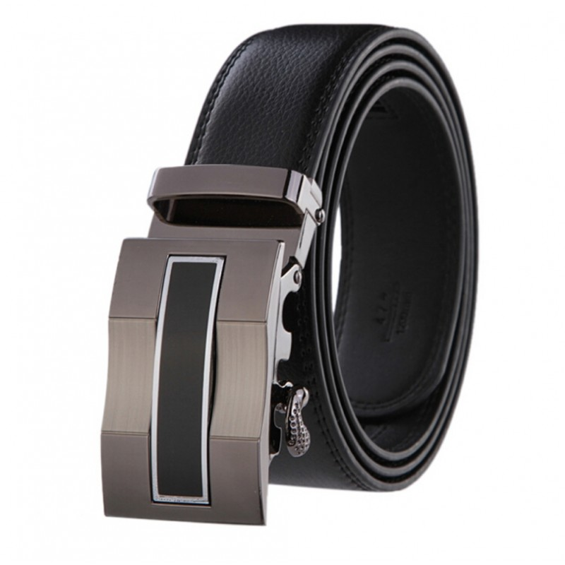 Mens Belt Leather Business Automatic Buckle 120CM