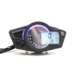 Digitaler Kilometerzähler - Tachometer für Motorräder mit LED-LCD-Anzeige