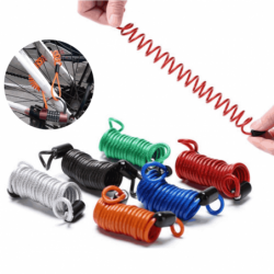 2.5M spring cable lock - anti theft protection - alarm