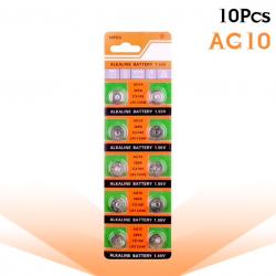 AG10 189 LR54 155V SR54 389 189 LR1130 pile alcaline pièce de monnaie 10 pcs