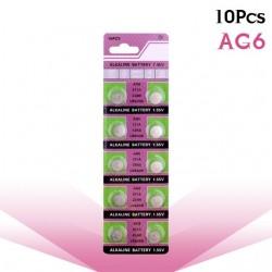 AG6 371 D371 605 SR920SW SR69 pile bouton alcaline 10 pièces