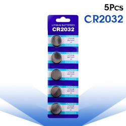 3V BR2032 DL2032 ECR2032 CR2032 Lithium Knopfbatterie - Zellenbatterie 5 Stück