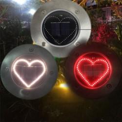 Heart shaped - solar panel lights - lawn / porch / patio