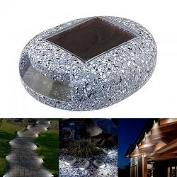 Decorative LED stone - solar garden light - waterproof - garden / patio