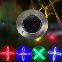 Four leaf clover - solar powered lights - white / blue / green / red