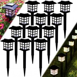 Garden solar lamp - IP68 waterproof - with a ground stake