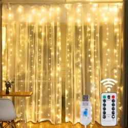LED string lights - USB - with remote control - Christmas / weddings / decoration