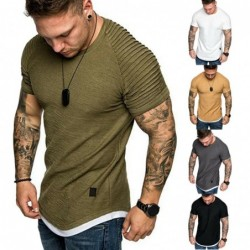 Short sleeve t-shirt - trendy wrinkled design - slim fit