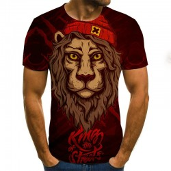 Modern short sleeve t-shirt - with 3D animal print