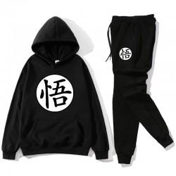 Sport-Trainingsanzug - Hose / Hoodie - mit chinesischen Buchstaben