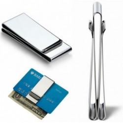 Metallclip - für Geld-/Kreditkarten - Brieftasche aus Edelstahl