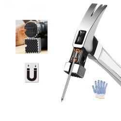 Automatic nail suction hammer - magnetic with heavy claw