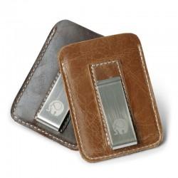 Schmales Lederportemonnaie - mit Metallclip - Geldhalter