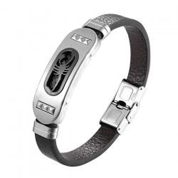 Retro scorpion bracelet - silicone - stainless steel