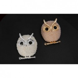 Owl brooch - with pearl decorations