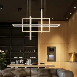 Minimalistic rectangle design - chandelier light - LED - 2 / 3 / 4 heads