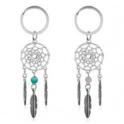 Dreamcatcher Feather Wind Chimes Dream Catcher Key Chain Women Vintage Indian Style Keychain