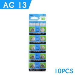 AG13 - 1.55V - pile alcaline - 10 pièces